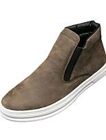 Недорогие -мужская обувь pu spring fall comfort кроссовки для наружного коричневого серого черного
