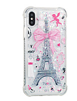 abordables -Funda Para Apple iPhone X iPhone 8 Plus Líquido Diseños Cubierta Trasera Torre Eiffel Suave TPU para iPhone X iPhone 8 Plus iPhone 8