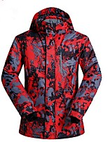 cheap -Men's Ski Jacket Warm Waterproof Thermal / Warm Windproof Skiing Camping / Hiking Ski/Snowboarding Snowboarding Back Country Polyester