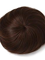 Недорогие -Темно-коричневый Коричневый Темно-коричневый / Medium Auburn Булочка для волос Updo Шиньоны Кулиска Искусственные волосы Волосы