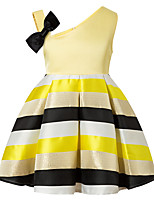 cheap -Girl's Daily Striped Color Block Dress,Cotton Rayon Spring Summer Sleeveless Vintage Cute Casual Yellow Blushing Pink Green
