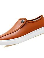 Недорогие -Муж. обувь Кожа Весна Осень Удобная обувь Мокасины и Свитер для на открытом воздухе Черный Коричневый