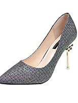 Недорогие -Жен. Обувь Полиуретан Весна Лето Удобная обувь Обувь на каблуках На шпильке для Повседневные Золотой Серебряный
