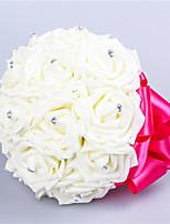 """Недорогие -Свадебные цветы Букеты Свадьба Шёлковая ткань рипсового переплетения Около 18 см 7,87""""(около 20см)"""