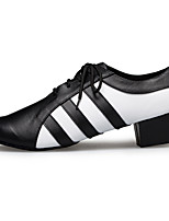 "cheap -Men's Latin Leather Sneaker Training Trim Low Heel Black/White 1"" - 1 3/4"" Customizable"