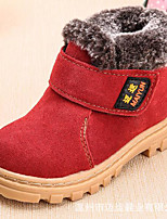 cheap -Girls' Shoes Real Leather Nubuck leather Spring Fall Comfort Bootie Boots for Casual Red Army Green Brown Coffee Black