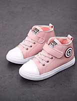 cheap -Girls' Boys' Shoes Leatherette Spring Fall Comfort Sneakers for Casual Black Pink