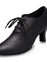 cheap -Modern Leatherette Sneaker Trim Stiletto Heel Black Red Customizable