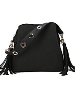 cheap -Women Bags PU Polyester Shoulder Bag Zipper Tassel for Casual All Season Brown Red Black Green