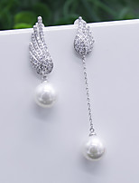 cheap -Women's Stud Earrings Mismatch Earrings Rhinestone Basic Imitation Pearl Rhinestone Jewelry For Wedding Party