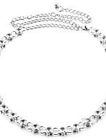 cheap -Women's Gold Waist Belt,Gold White Casual
