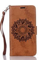 cheap -Case For Samsung Galaxy Card Holder Wallet with Stand Flip Embossed Full Body Mandala Hard PU Leather for Grand Prime Core Prime