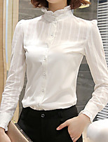 cheap -Women's Cotton Shirt - Solid Turtleneck