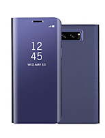 cheap -Case For Samsung Galaxy Note 8 Note 5 with Stand Mirror Flip Auto Sleep/Wake Up Full Body Solid Color Hard PU Leather for Note 8 Note 5