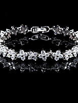 cheap -Women's Bracelet Synthetic Diamond Synthetic Gemstones Silver Plated Jewelry Wedding Party Costume Jewelry