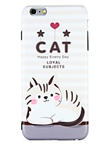 abordables -Coque Pour Apple iPhone 7 iPhone 6 IMD Motif Coque Arrière Chat Mot / Phrase Animal Flexible TPU pour iPhone 7 Plus iPhone 7 iPhone 6s