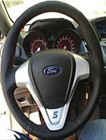 abordables -cubiertas del volante automotriz (cuero) para motores universales ford generales fiesta