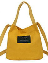 cheap -Women Bags Canvas Tote Appliques for Casual All Season Yellow Blushing Pink Red Black White