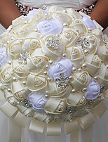 """Недорогие -Свадебные цветы Букеты Свадьба Бусины Стразы Satin Около 18 см 9,84""""(около 25см)"""