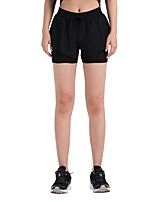 cheap -Women's Women's Running Shorts Shorts Running/Jogging Exercise & Fitness Cotton Slim Black/Blue Black XXL XL L M S