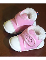 cheap -Baby Shoes Fabric Winter Fall Comfort First Walkers Boots for Casual Pink Red Dark Blue