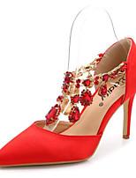 economico -Da donna Scarpe PU (Poliuretano) Primavera Estate Comoda scarpe da sposa A stiletto Appuntite Punta chiusa per Casual Bianco Nero Fucsia