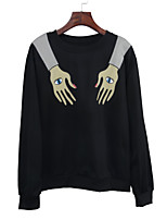 cheap -Women's Daily Holiday Casual Street chic Spring Fall T-shirt,Print Round Neck Long Sleeve Polyester