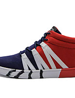 cheap -Men's Shoes PU Spring Fall Light Soles Sneakers for Casual Black Blue Black/Red