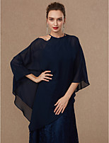 cheap -Sleeveless Chiffon Wedding Party / Evening Women's Wrap Ponchos