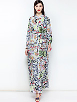 cheap -Women's Boho Swing Dress - Floral, Basic Maxi Stand
