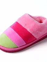 Недорогие -Универсальные Обувь Флис Весна Осень Удобная обувь Тапочки и Шлепанцы На низком каблуке для Повседневные Лиловый Кофейный Синий Розовый