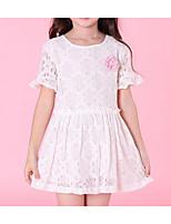 abordables -Robe Fille de Quotidien Fleur Polyester Eté Actif Vert Blanc Rose Claire Violet