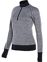 abordables -Femme Tee-shirt de Course Manches Longues Séchage rapide Tee-shirt pour Course Coton Ample Noir Bleu de minuit Gris S M L XL XXL