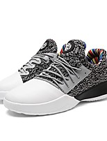 cheap -Shoes Knit Synthetic Microfiber PU Winter Summer Comfort Sneakers for Casual Outdoor Black Gray Black/Red