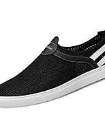 Недорогие -Муж. обувь Полиуретан Весна Осень Удобная обувь Кеды для Повседневные Черный Синий