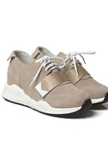 cheap -Women's Shoes Cowhide Spring Fall Comfort Sneakers Low Heel for Casual Light Brown Green Black