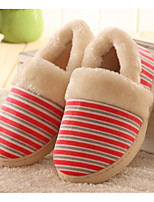 Недорогие -Универсальные Обувь Ткань Весна Осень Удобная обувь Тапочки и Шлепанцы На низком каблуке для Повседневные Оранжевый Темно-синий Кофейный