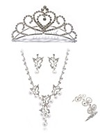 cheap -Women's Tiaras Bridal Jewelry Sets Rhinestone Fashion European Wedding Party Imitation Diamond Alloy Geometric Butterfly Body Jewelry 1