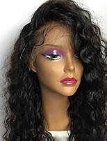 Недорогие -Натуральные волосы Полностью ленточные Парик Бразильские волосы Кудрявый Стрижка каскад С пушком С чёлкой 130% плотность Необработанные