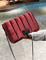 abordables -Femme Sacs Polyuréthane Sac à Bandoulière Boutons Fermeture pour Décontracté Toute Saison Vert Noir Rouge Rose Claire Gris