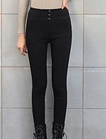 cheap -Women's Polyester Thick Solid Color Legging,Solid This Style is TRUE to SIZE.