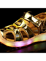 cheap -Girls' Shoes Leatherette Spring Summer Comfort Sandals for Casual Pink Silver Gold