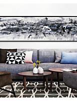Недорогие -Пейзаж Иллюстрации Предметы искусства,Алюминиевый сплав материал с рамкой For Украшение дома Предметы искусства в рамках В помещении