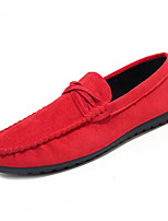 cheap -Men's Shoes Cashmere Spring Fall Moccasin Loafers & Slip-Ons for Casual Black Brown Red