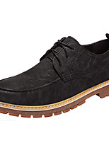 cheap -Men's Shoes Synthetic Microfiber PU PU Leatherette Spring Fall Comfort Oxfords for Casual Black Yellow Dark Brown