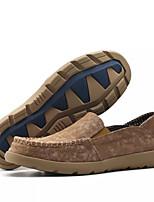 Недорогие -Муж. обувь Искусственное волокно Весна Осень Мокасины Мокасины и Свитер для Повседневные Темно-синий Хаки