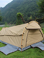 cheap -Deerke 2 persons Tunnel Tent Single Camping Tent One Room Fold Tent Windproof Rain-Proof Heat Retaining for Camping / Hiking Camping /