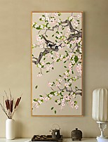 Недорогие -ботанический Предметы искусства,Алюминиевый сплав материал с рамкой For Украшение дома Предметы искусства в рамках Спальня