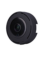 hd 960p 360 Grad Panorama Weitwinkel Mini-IP-Kamera Smart ipc Wireless Fisheye IP-Kamera P2P Sicherheit Wifi Kamera Fass für Schwarz