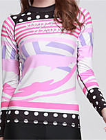 cheap -Women's Diving Rash Guard Fast Dry Wearable Breathability Polyester Chinlon Lycra Long Sleeves Top Beach Surfing Stand-Up Paddleboarding